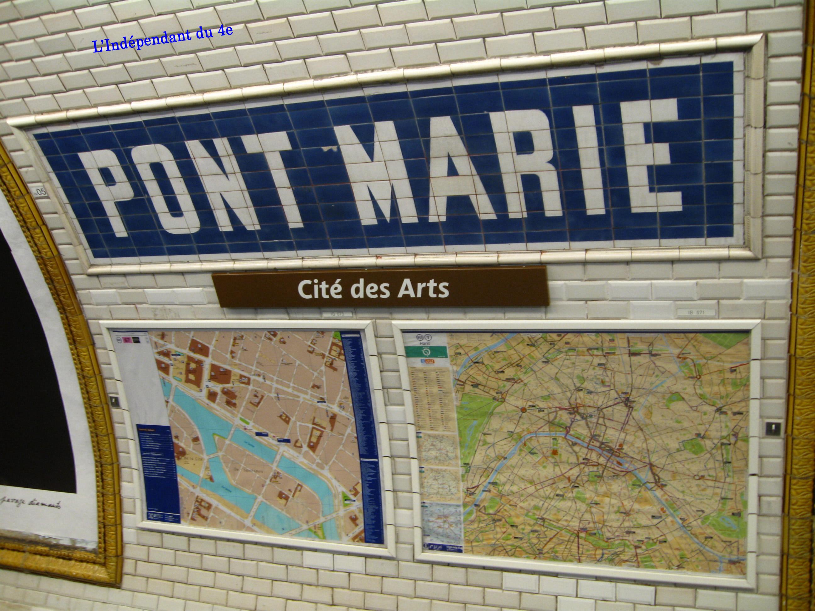 Plaque Metro Parisien Deco l'indépendant du 4e arrondissement de paris: cdlxxiii